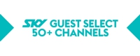 SKY guest select 50+ channels